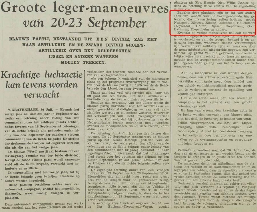 Groote leger manoeuvres